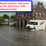 Engage Newport – SEA Aware-Public Event on Rising Sea Level – Thursday, October 24, 2013 from  5:30 p.m.-6:30 p.m.