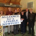 The Alliance for a Livable Newport (ALN) held its 2014/2015 Annual Meeting at the Salvation Café on May 6